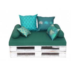 Coussin et assise pour palette 80 x 120cm vert ambiance Bali