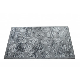 Tapis paillasson anti dérapant gris et blanc 66 x 110 cm