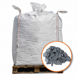Paillage d'ardoise naturelle gris Big bag 800 litres