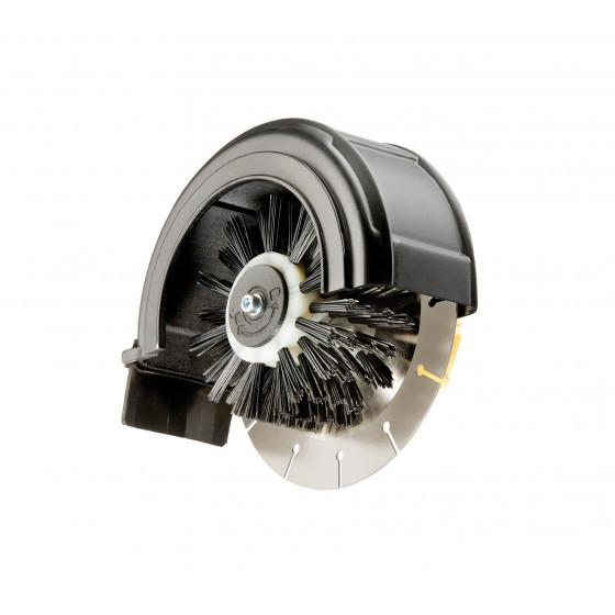 Coupe bordure électrique adaptable sur brosse rotative pour terrasse