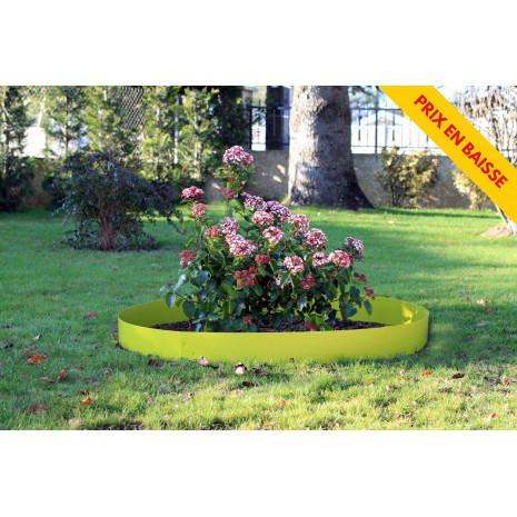 Bordure de jardin en acier vert anis H 14 cm