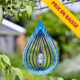 Mobile a vent en metal décor goutte d'eau diamètre 20 cm