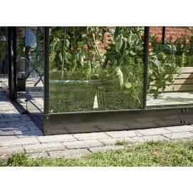 Embase en acier pour serre de jardin verre aluminium 6,4m²
