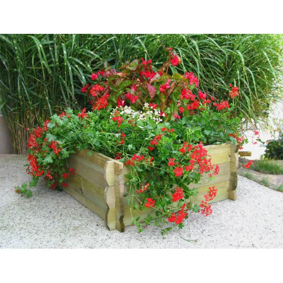 Faire un jardin un potager en carr jardin et saisons for Carre jardin bois