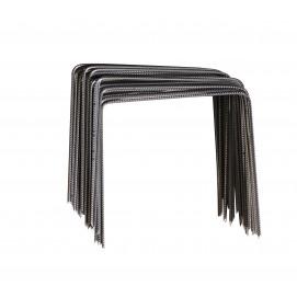 agrafe métallique biseauté x 10