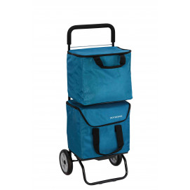Chariot de course isotherme 2 sacs amovibles