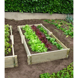 Potager de jardin rectangulaire en bois