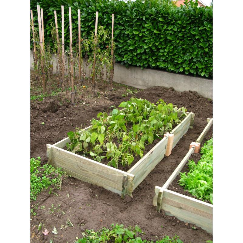 Le potager de jardin rectangulaire en bois non trait for Amenager jardin rectangulaire