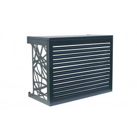 Cache climatiseur extérieur en aluminium avec lamelle
