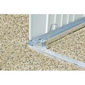 Cadre de sol en aluminium pour abri de jardin metal 3,3 m2