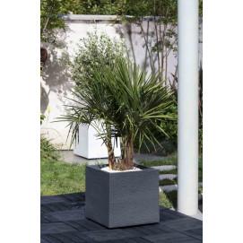 Bac à fleurs carré 57 litres gris anthracite