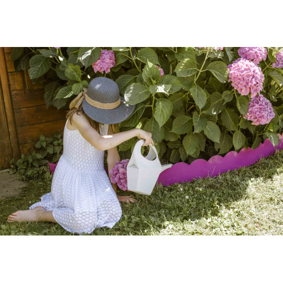 Bordure de jardin en acier fushia ondulée H 15 cm