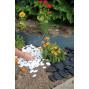 Bordure de jardin en acier gris anthracite ondulée H 15 cm