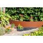 Bordure de jardin en acier fer vieilli hauteur 25 cm