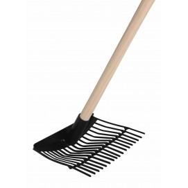 rateau ramasse cailloux avec ou sans manche en bois