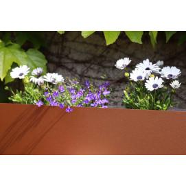 Bordure de jardin en acier fer vieilli H 15 cm