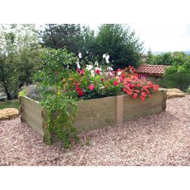 Maxi potager de jardin rectangulaire en bois