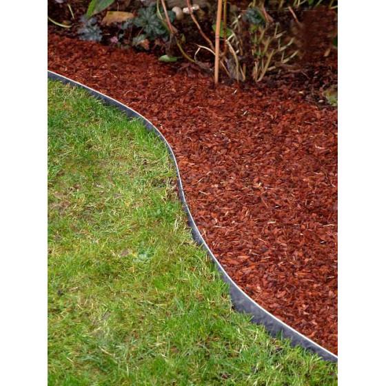 Bordure de jardin en acier galvanisé H 14 cm Jardin et Saisons