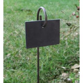Etiquette en ardoise et support à planter (les 3)
