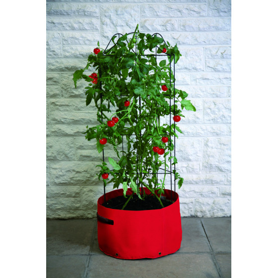 Sac à plantation pour tomates avec tuteur