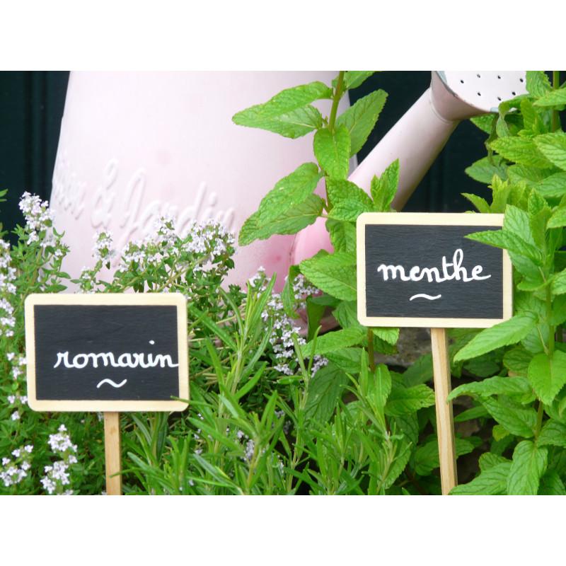 etiquette de jardin en bois planter avec son marqueur feutre blanc. Black Bedroom Furniture Sets. Home Design Ideas