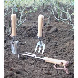 Lot 3 outils (griffe - fourche - transplantoir)