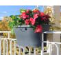 Jardinière à balcon corsica gris anthracite