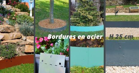 Bordure de jardin hauteur 25 cm