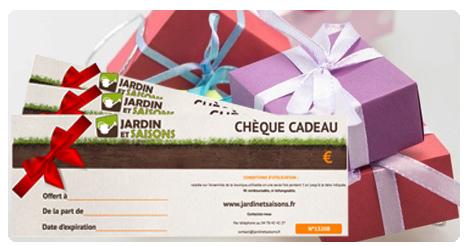 Chèque CADEAU Jardin et Saisons